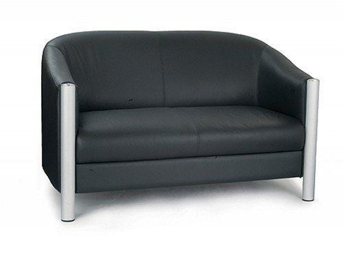 Napa Leather Faced 2-Seat Tub Chair