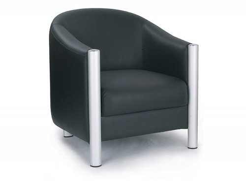 Napa Leather Faced Single Seat Tub Chair