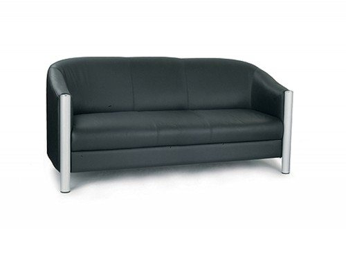 Napa Leather Faced 3-Seat Tub Chair