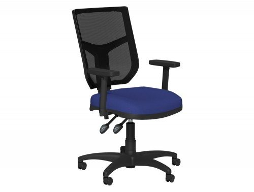 OA Mesh Back Operator Chair BMS STD in E031 Navy and Black Mesh