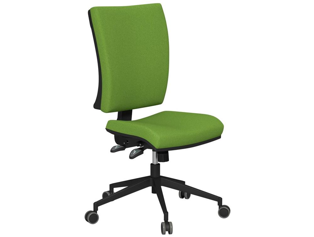 OG2 High Backrest Black Frame Swivel Task Chair E051 Green No Armrests
