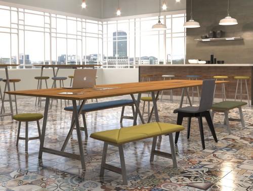 Relic hotdesking table Canteen