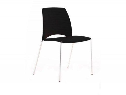 S2BK Sand 4 Legged Chair in Black