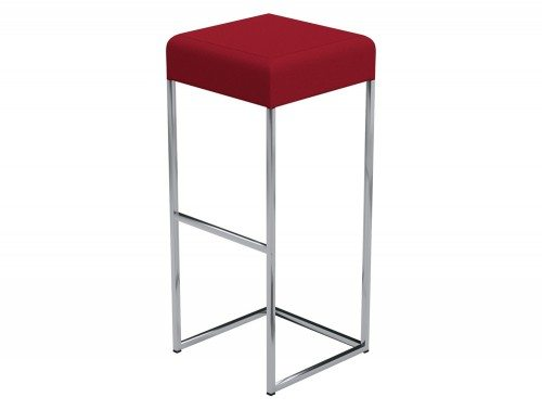 Sim Canteen Bar High Stool in E090 Red