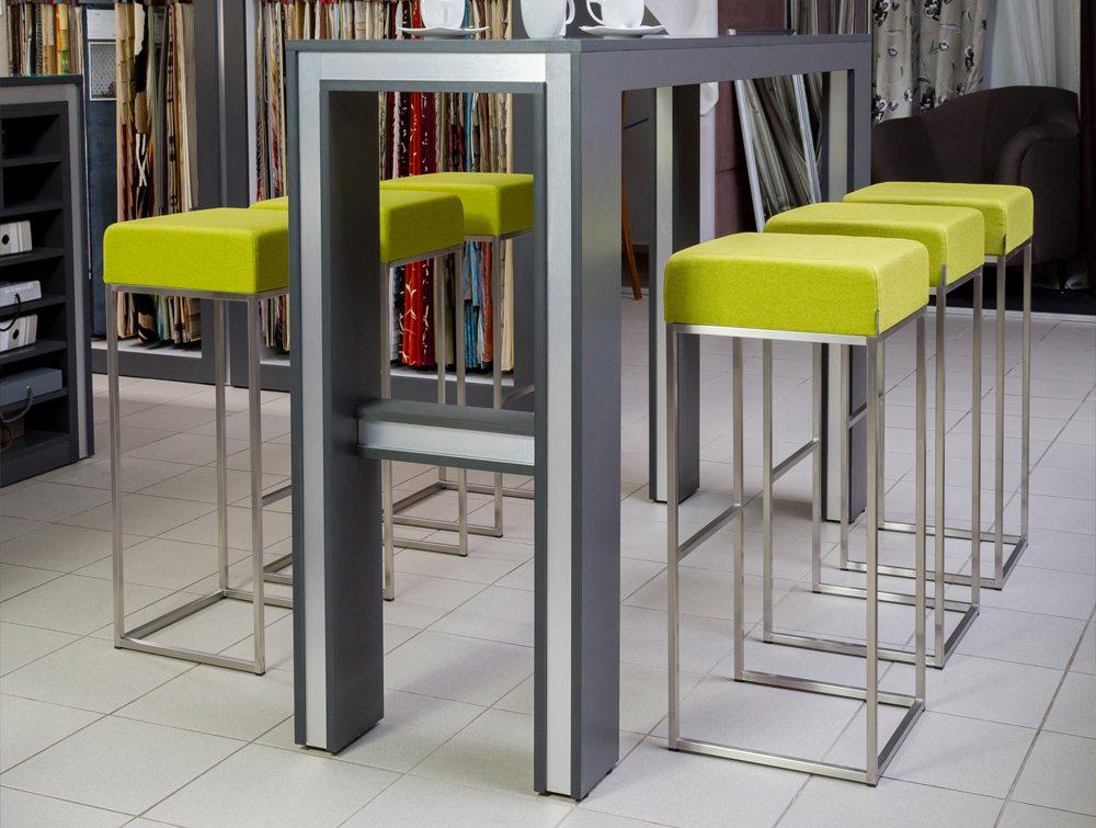 Sim Canteen Bar High Stool In Green Radius Office Uk
