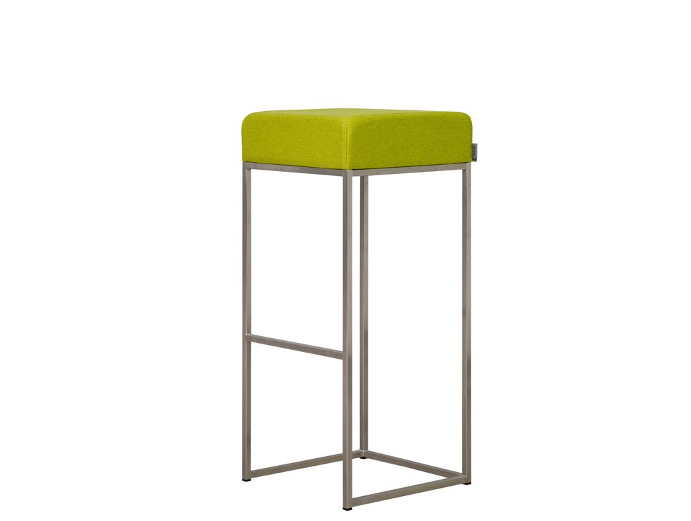 Olive Green Leather Bar Stools