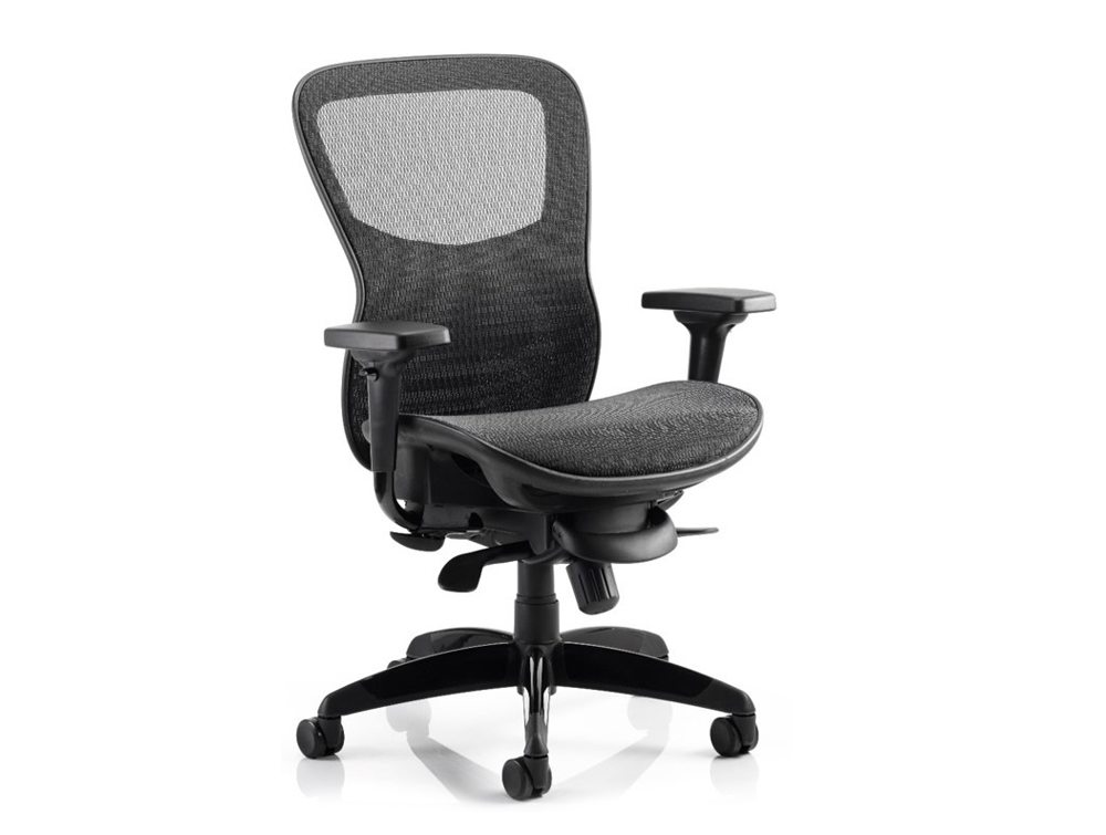 Dynamo Stealth Ergonomic Posture Task Chair With Arms