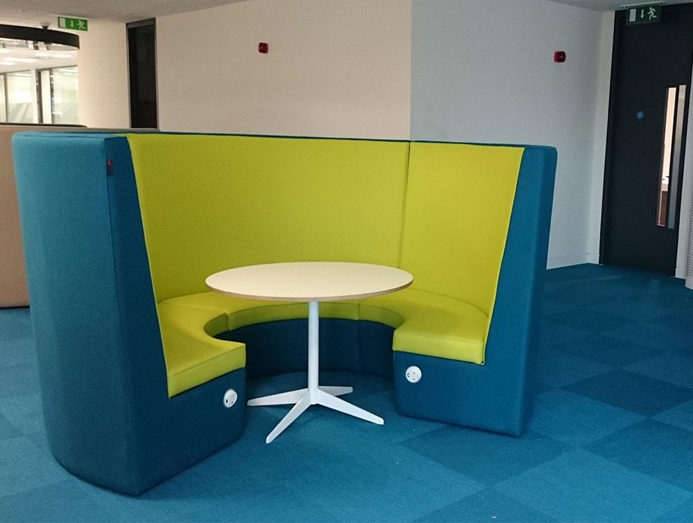 Stella Acoustic High Back Meeting Pod Radius Office Uk