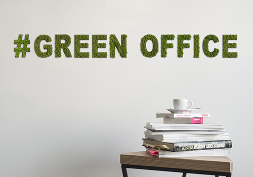 StyleGreen Pictogram Green Moss Hashtag Green Office Sign with Reindeer Moss 500x350