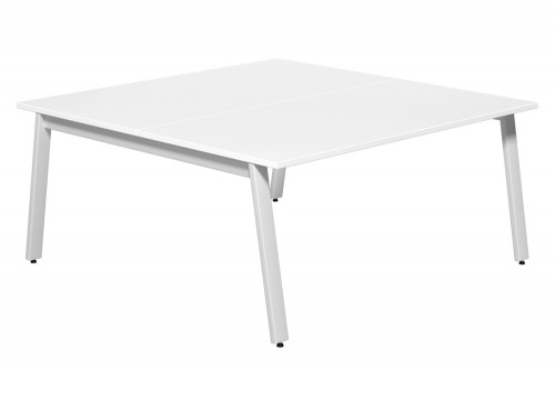Switch 2 Person Bench Desk A-Leg 80-TT-WH-WHT-16 in White