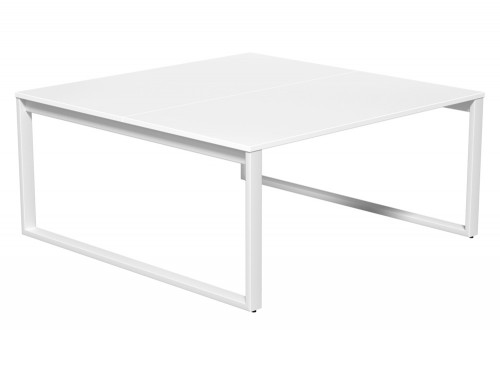 Switch 2 Person Bench Desk Closed Leg 80-TT-WH-WHT-16 in White