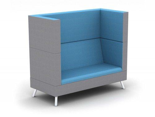 TD-2-PER-H Ad-Hoc 2-Seater High-Back Sofa Meeting Pod
