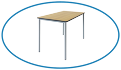 Top Image Classroom Table and Desk