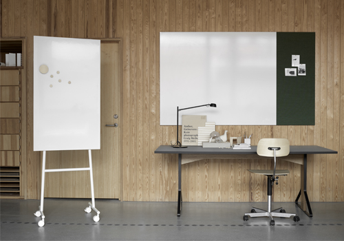 Lintex ONE Mobile Whiteboard White Frame Aluminium with Magnetic Writing Surface with Air Textile Board