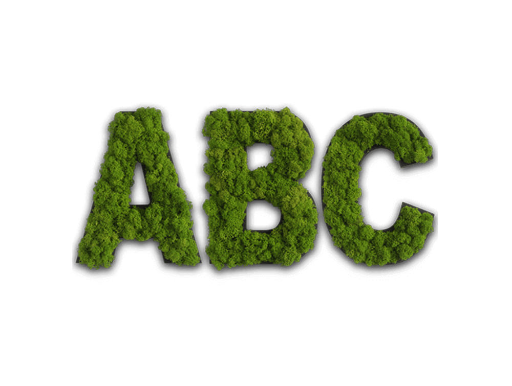 styleGreen-Pictogram-Green-Moss-ABC-Signs-with-Reindeer-Moss