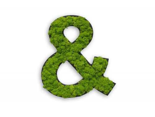 styleGreen-Pictogram-Green-Moss-Ampersand-Sign-with-Reindeer-Moss