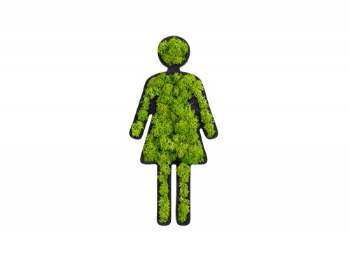 styleGreen-Pictogram-Green-Moss-Female-Toilet-Sign-with-Reindeer-Moss
