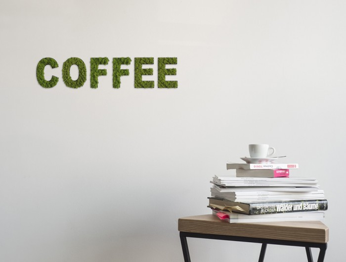 styleGreen-Pictogram-Green-Moss-Word-COFFEE-Sign-with-Reindeer-Moss-in-Situ
