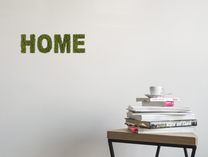 styleGreen-Pictogram-Green-Moss-Word-HOME-Sign-with-Reindeer-Moss-in-Situ