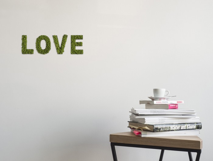 styleGreen-Pictogram-Green-Moss-Word-LOVE-Sign-with-Reindeer-Moss-in-Situ